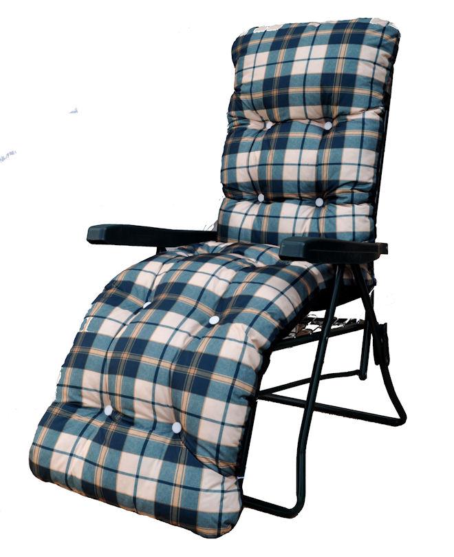 Garden Sun Lounger Multi Position Reclining Relaxer Chair