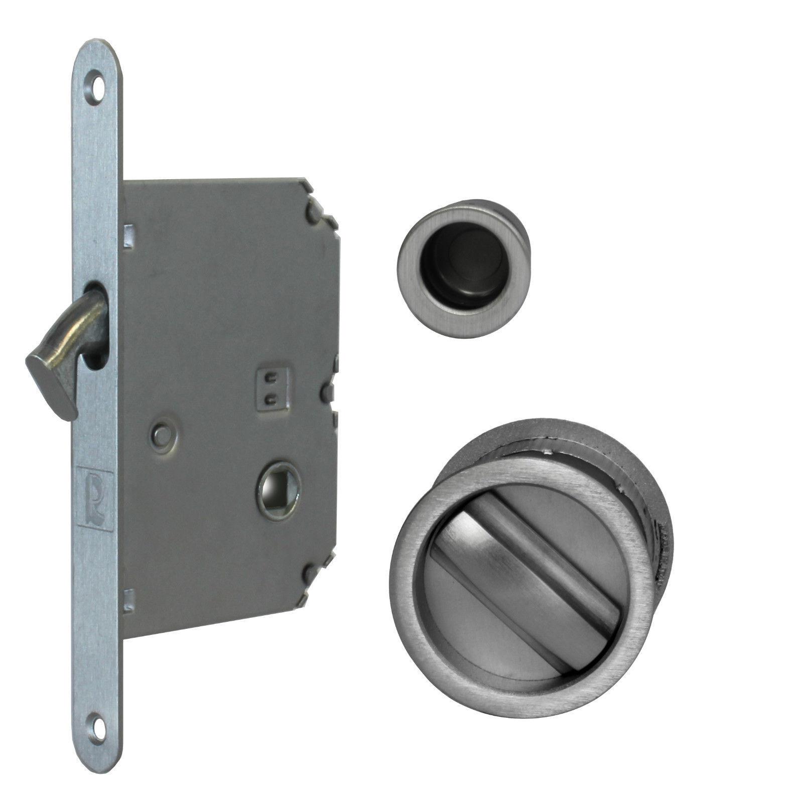 Jv825 Sliding Pocket Door Bathroom Lock Set C W 2 Flush