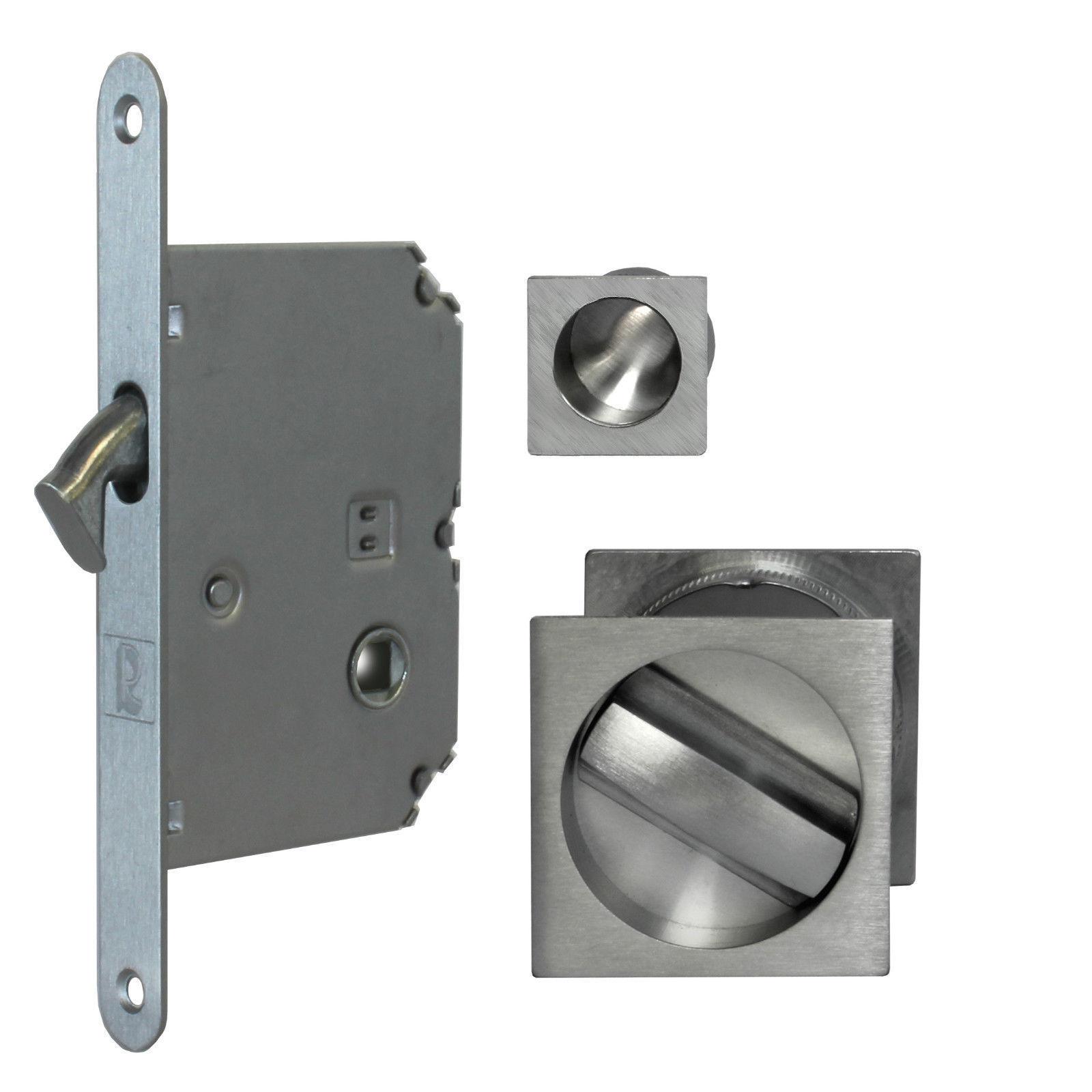 Jv829 Sliding Pocket Door Bathroom Lock Set Cw 2 Flush Pulls End