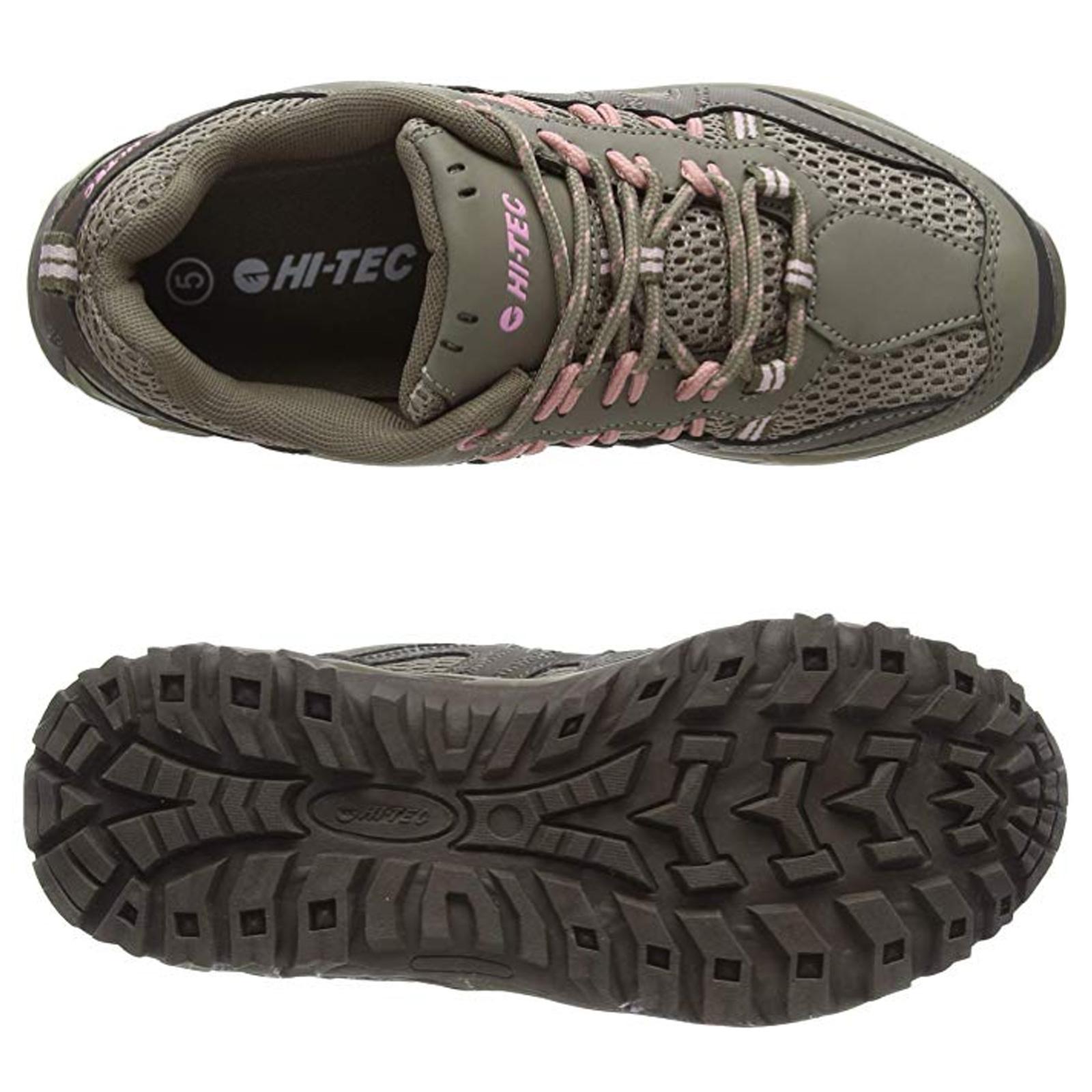 e56afec6 Details about 2019 Hi-Tec Ladies Jaguar Walking Shoes New Womens Hiking  Outdoor Trail Trainers
