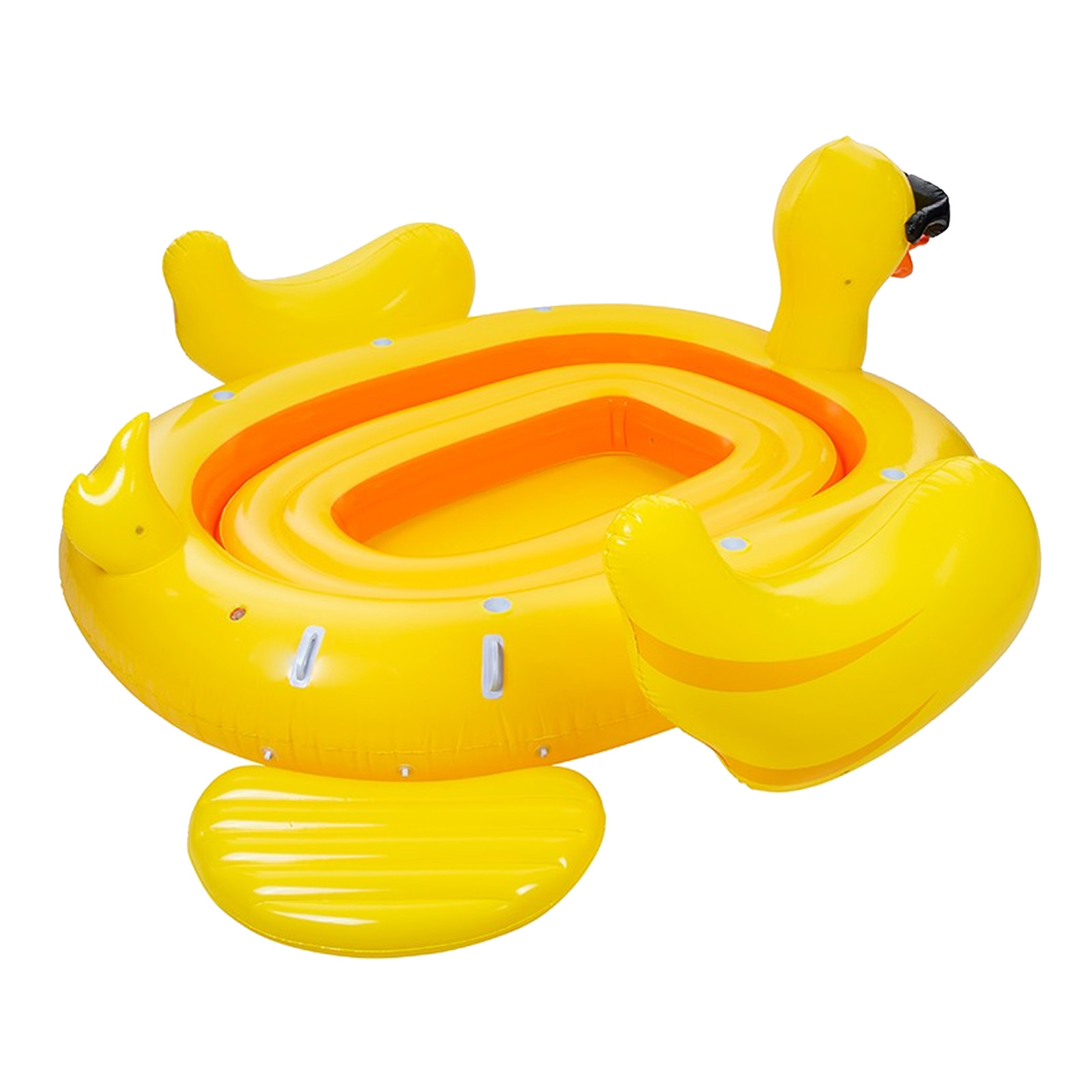 Indexbild 4 - Pure4Fun 6 Person Giant Inflatable Party Blow Up Dinghy Boat Pool Beach Lilo