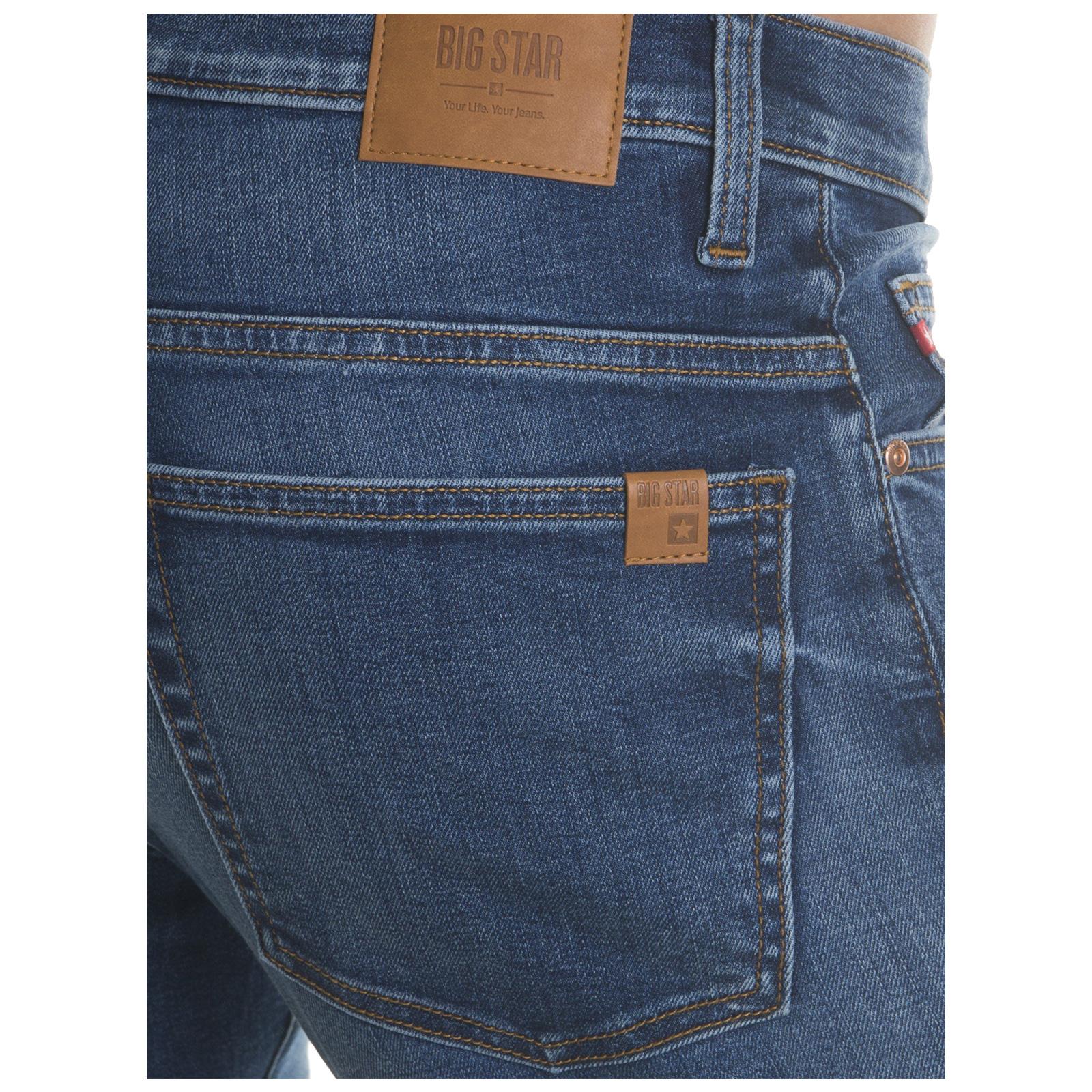 Big-Star-Mens-Denim-Jeans-Straight-Tapered-Leg-Style-Designer-Casual-Trousers thumbnail 13