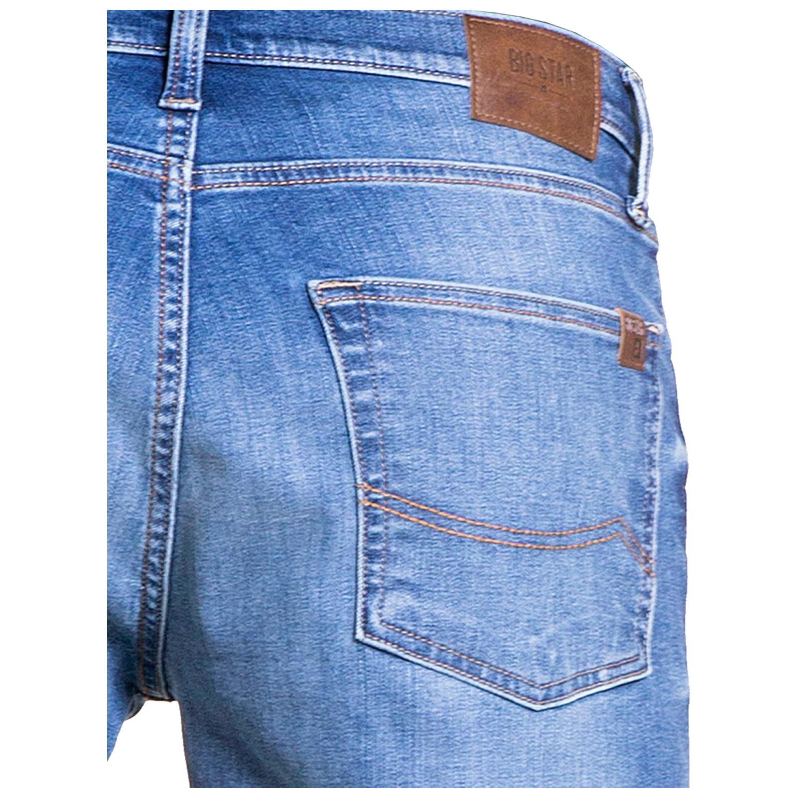 Big-Star-Mens-Denim-Jeans-Straight-Tapered-Leg-Style-Designer-Casual-Trousers thumbnail 3