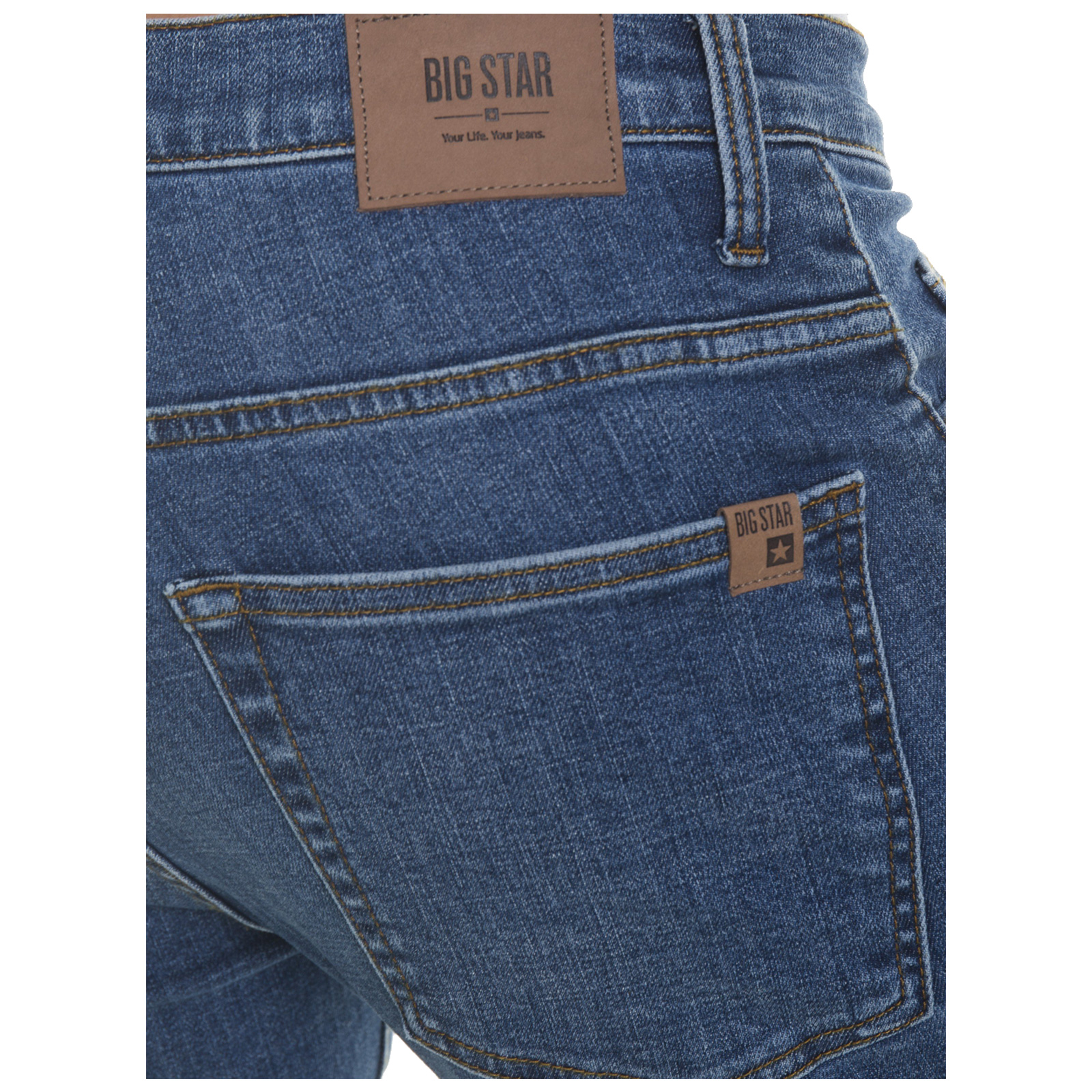 Big-Star-Mens-Denim-Jeans-Straight-Tapered-Leg-Style-Designer-Casual-Trousers thumbnail 11