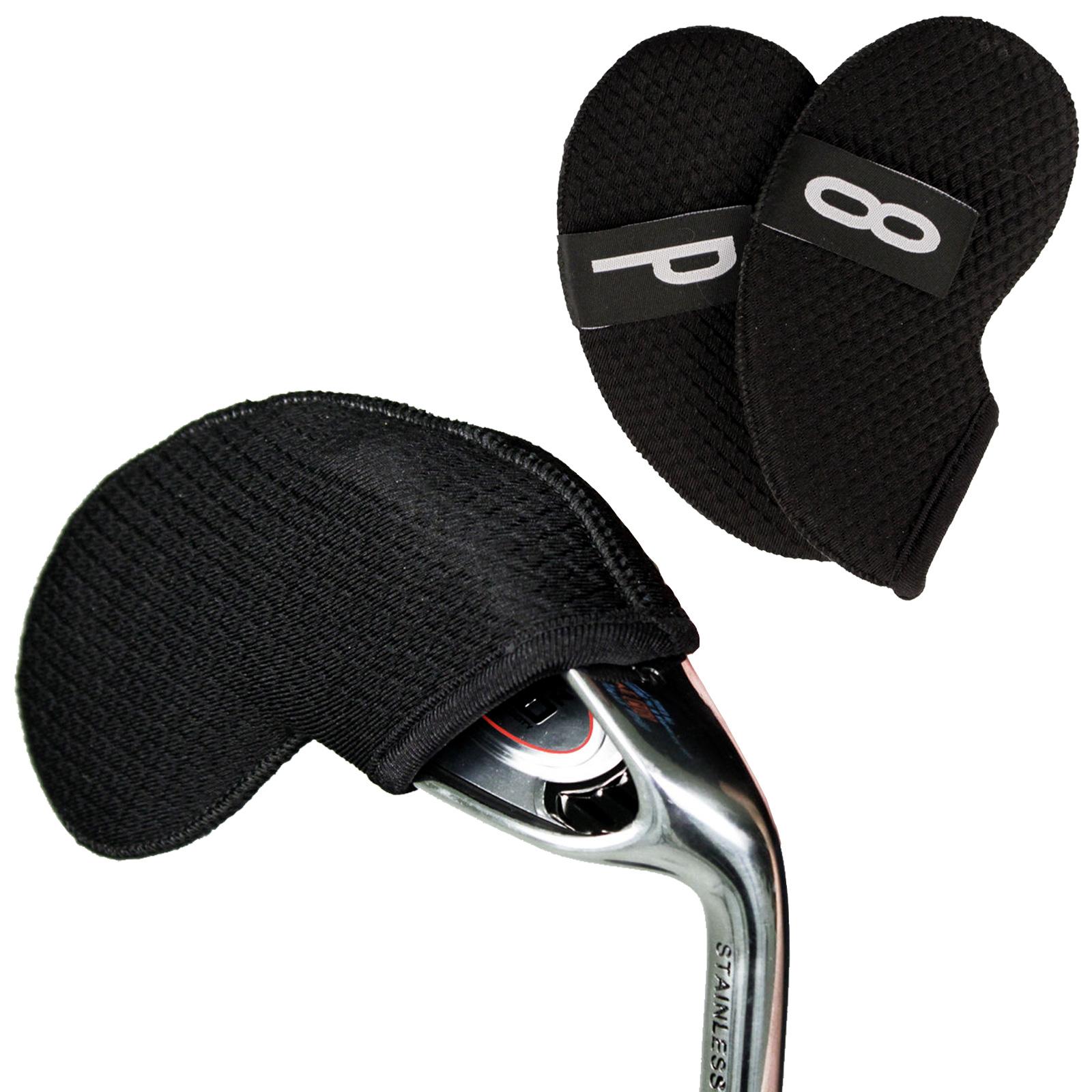 Indexbild 2 - Masters Headkase Black Golf Club Headcovers - Mallet Blade Irons Set Model