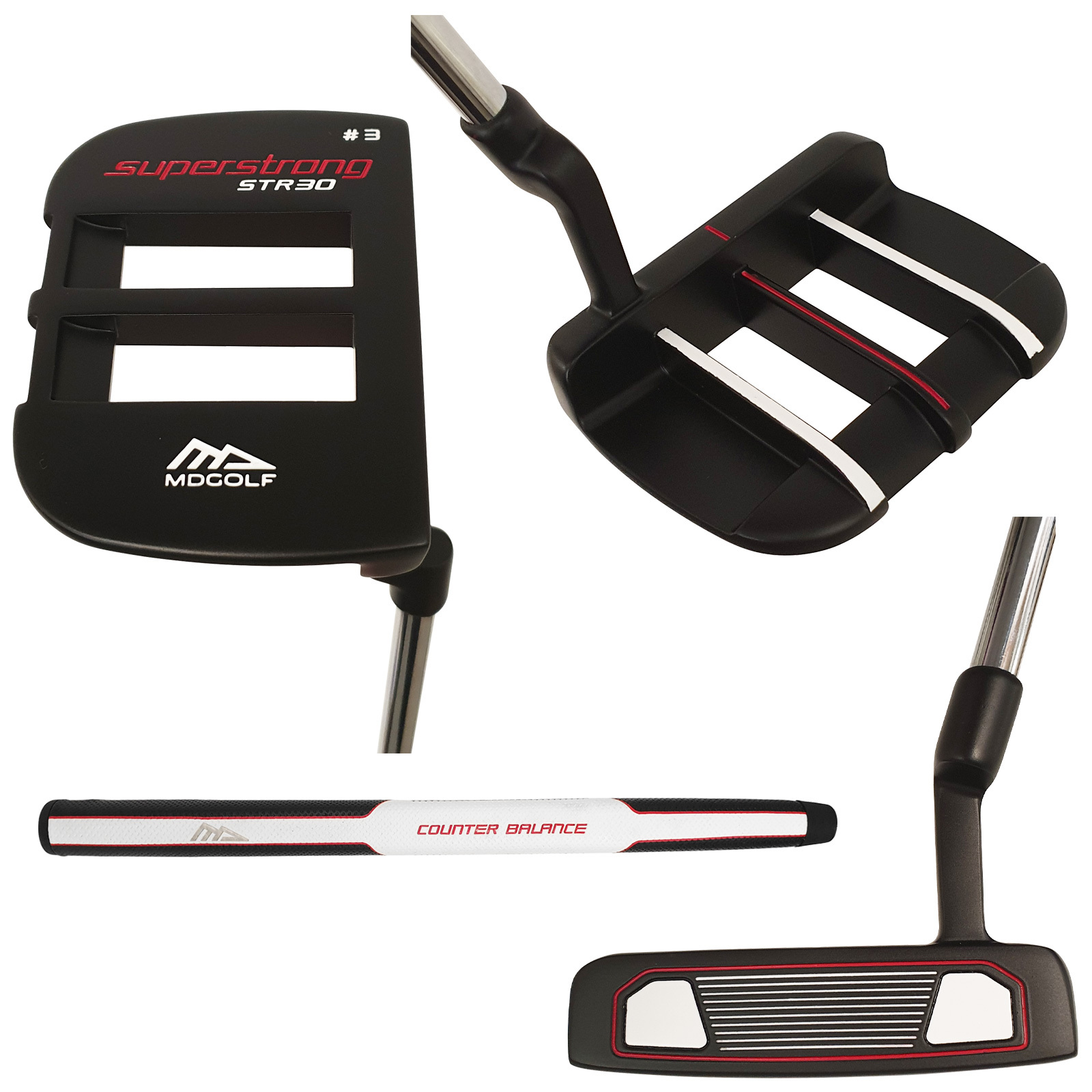2019-MD-Golf-Mens-Superstrong-STR30-Putter-Mallet-Blade-New-Club-Right-Handed thumbnail 4