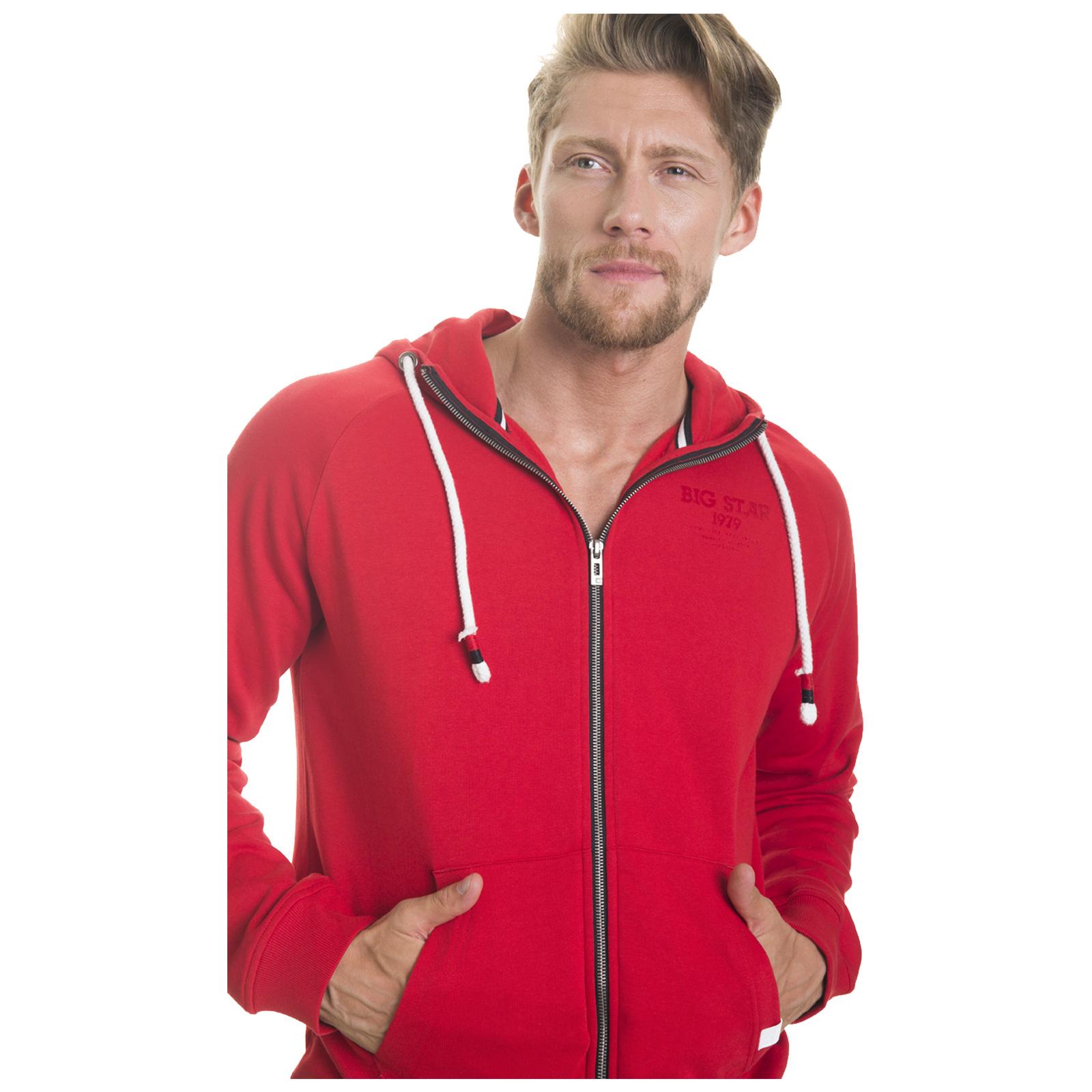 Big-Star-Mens-Hoodie-New-Cotton-Pullover-Full-Zip-Hooded-Casual-Sweatshirt thumbnail 12