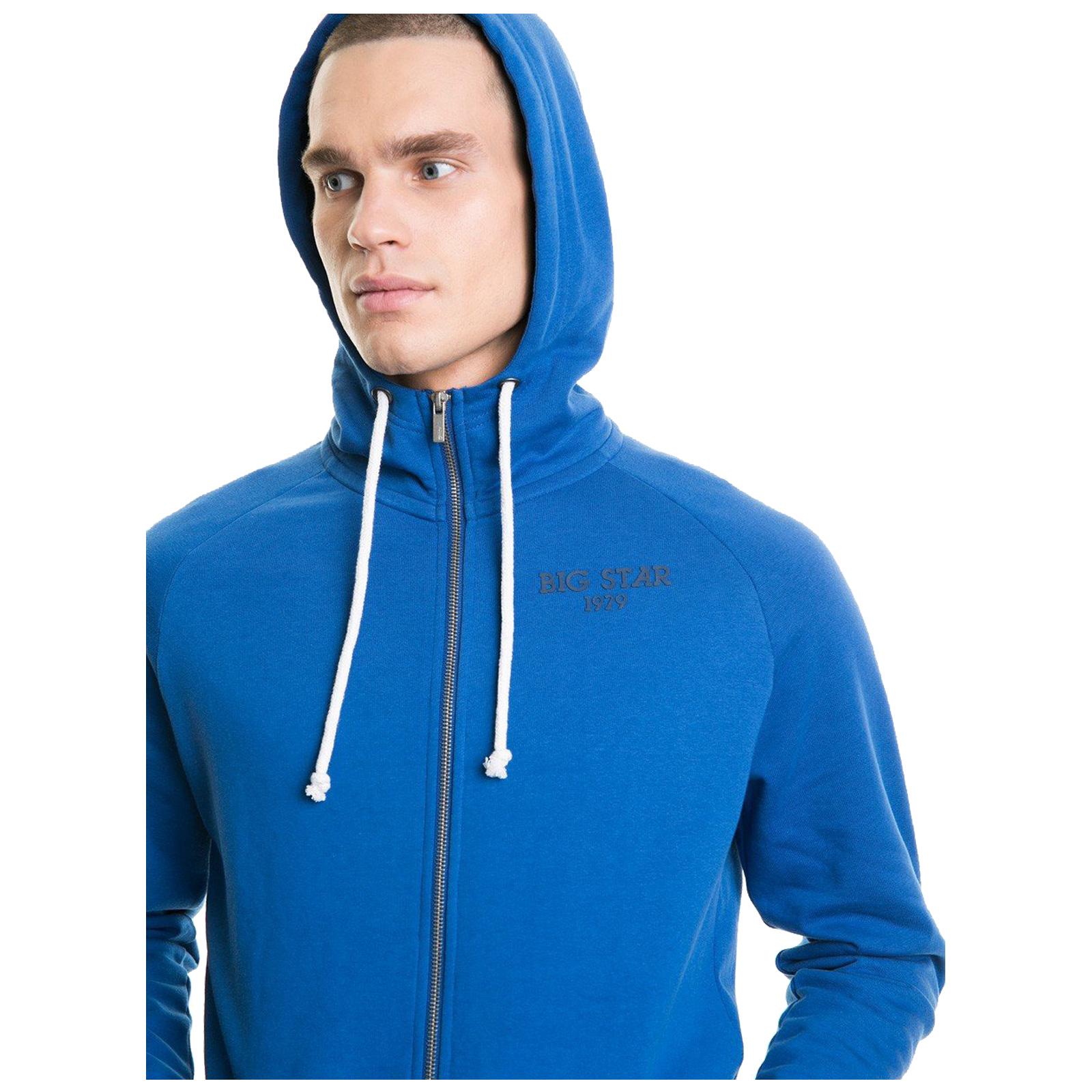 Big-Star-Mens-Hoodie-New-Cotton-Pullover-Full-Zip-Hooded-Casual-Sweatshirt thumbnail 10