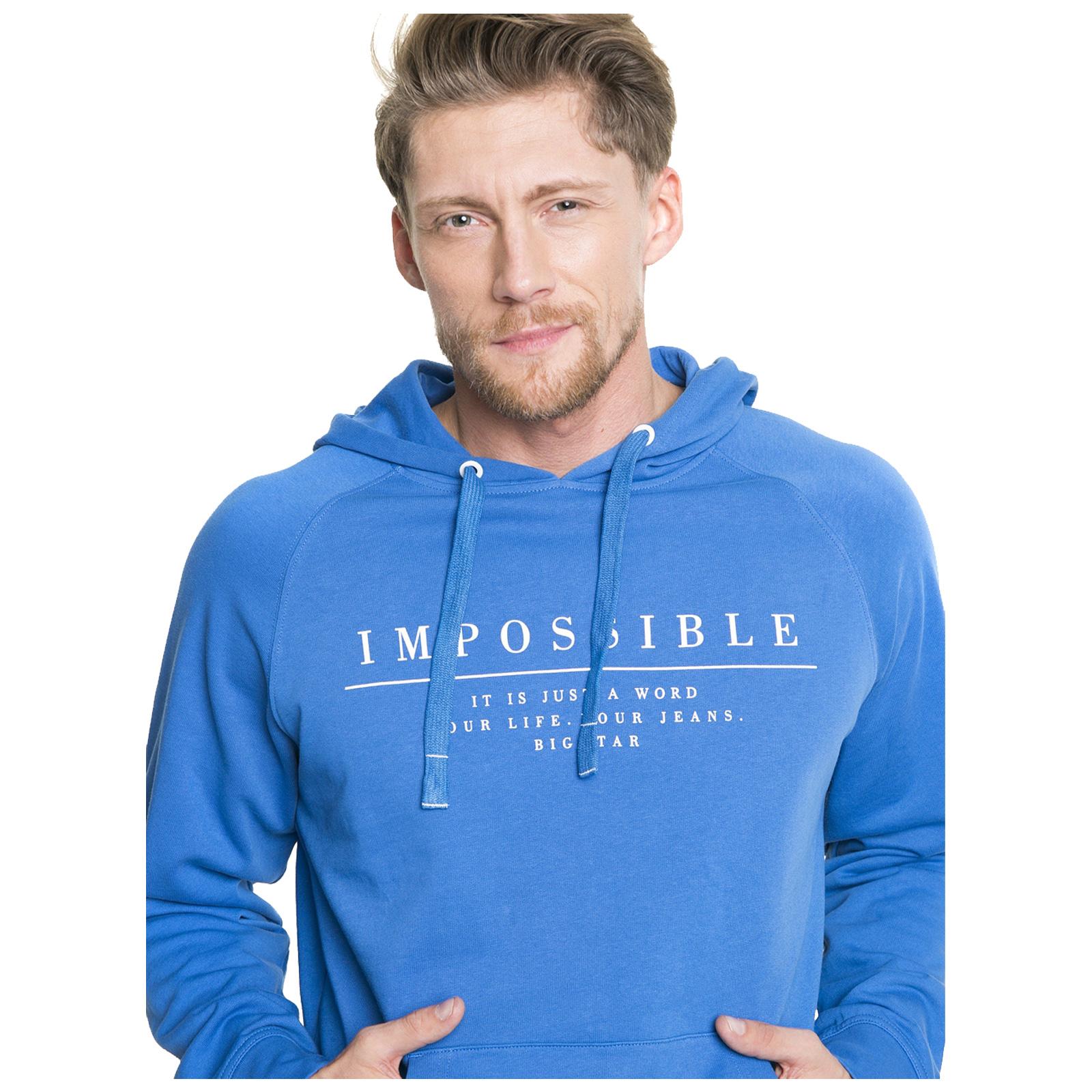 Big-Star-Mens-Hoodie-New-Cotton-Pullover-Full-Zip-Hooded-Casual-Sweatshirt thumbnail 4