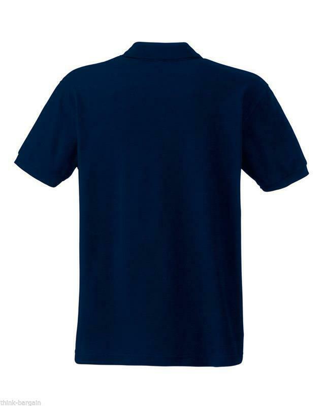 Fruit-of-the-Loom-Polo-Shirt-Plain-Short-Sleeve-Men-039-s-Polo-Tee-T-Shirt-S-5XL thumbnail 21