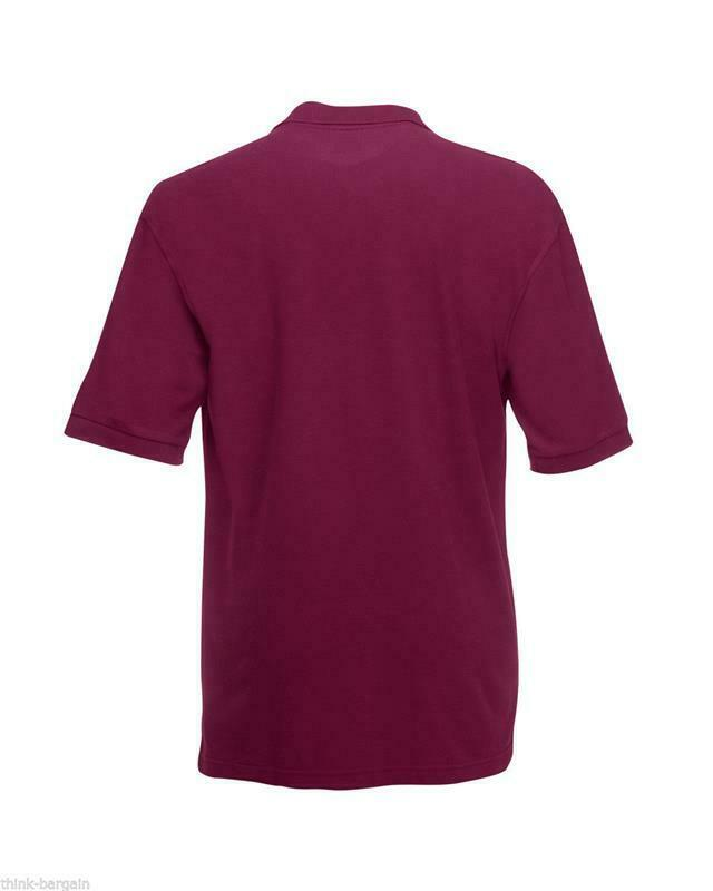 Fruit-of-the-Loom-Polo-Shirt-Plain-Short-Sleeve-Men-039-s-Polo-Tee-T-Shirt-S-5XL thumbnail 13