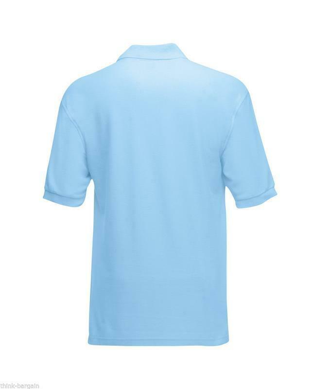 Fruit-of-the-Loom-Polo-Shirt-Plain-Short-Sleeve-Men-039-s-Polo-Tee-T-Shirt-S-5XL thumbnail 29
