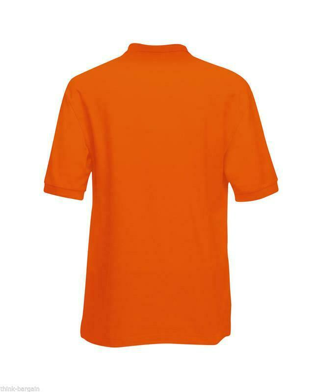 Fruit-of-the-Loom-Polo-Shirt-Plain-Short-Sleeve-Men-039-s-Polo-Tee-T-Shirt-S-5XL thumbnail 25