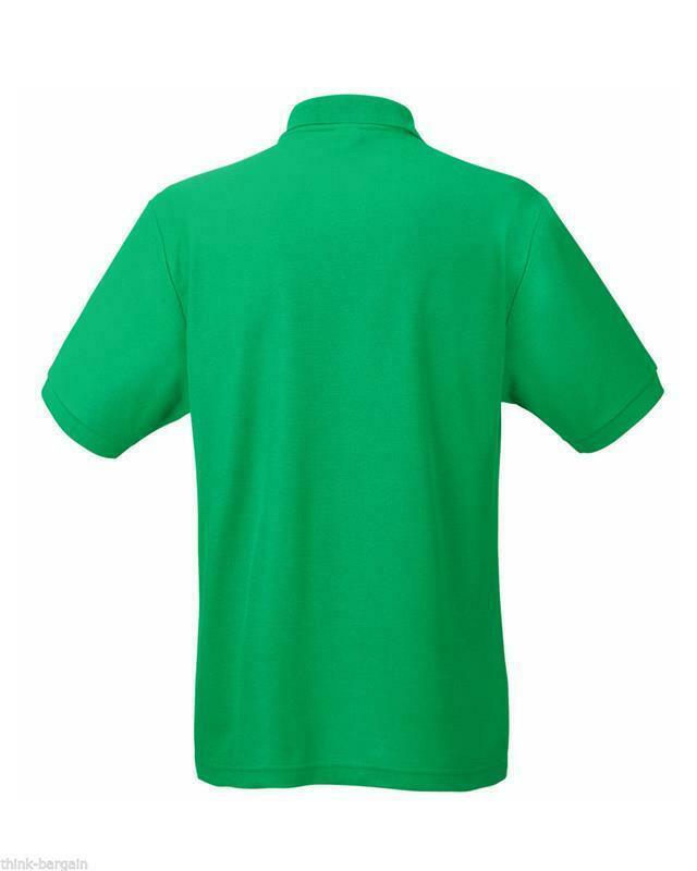 Fruit-of-the-Loom-Polo-Shirt-Plain-Short-Sleeve-Men-039-s-Polo-Tee-T-Shirt-S-5XL thumbnail 15