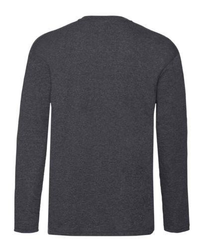 Men-039-s-Fruit-of-the-Loom-Long-Sleeve-T-Shirt-Plain-Tee-Shirt-Top-Cotton