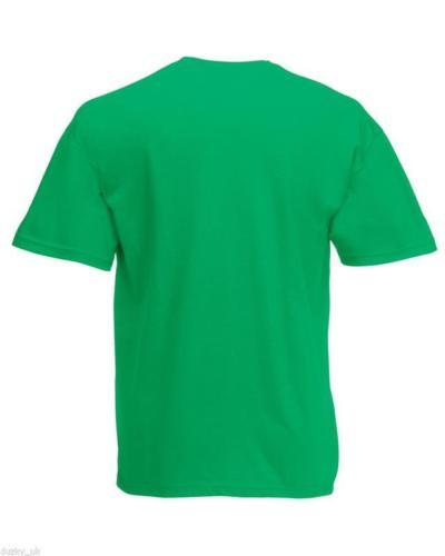 Fruit-of-the-Loom-100-Cotton-Plain-Blank-Men-039-s-Women-039-s-Tee-Shirt-Tshirt-T-Shirt