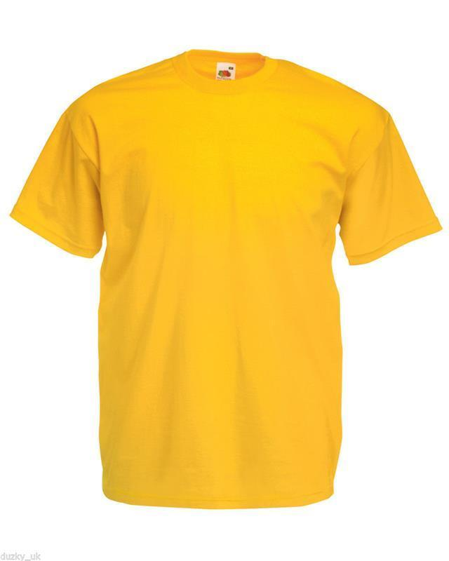 Fruit-of-the-Loom-Cotton-Plain-Blank-Men-039-s-Women-039-s-Tee-Shirt-Tshirt-T-Shirt-NEW
