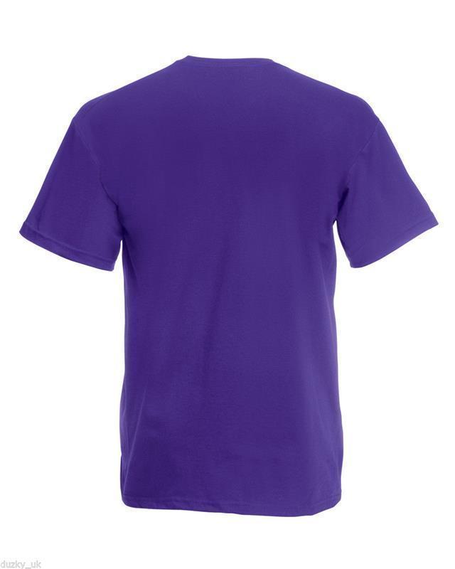 Fruit-of-the-Loom-Men-039-s-Plain-100-Cotton-Tee-Shirt-Tshirt-T-Shirt-Short-Genuine