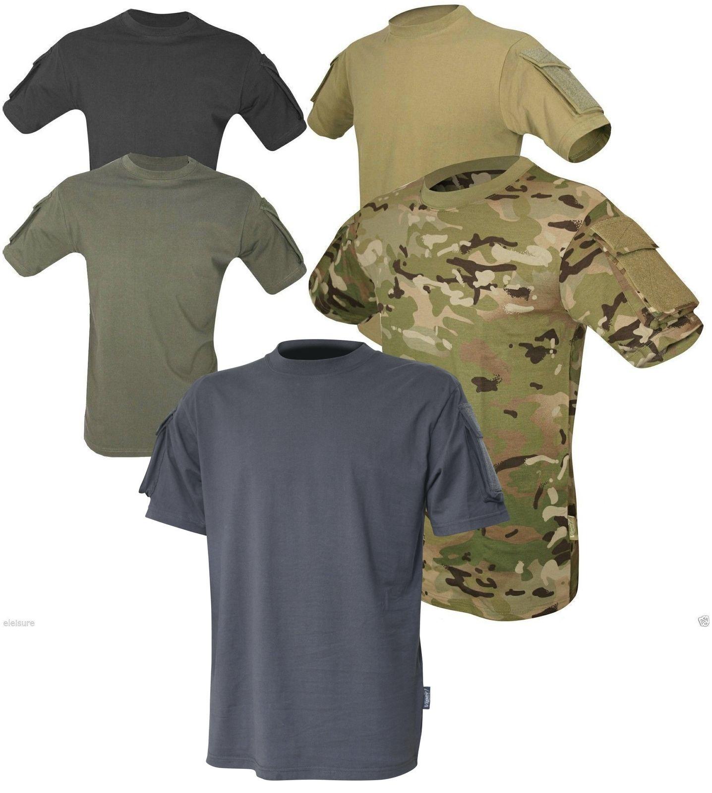 Viper Tactical Short Sleeved T-Shirt UBACS Ops Airsoft Military Army V-Cam Black