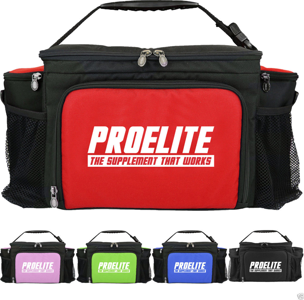 Pro Elite Insulated 6 Meal Bag Fitness Food Management