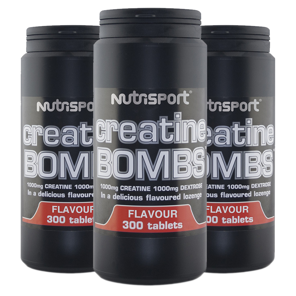 Details about Nutrisport Creatine Bombs Strawberry 300 Tablets Flavoured  Creatine Tablets