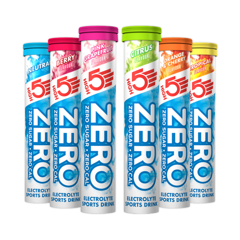 3 x HIGH 5 DRINKS WATER BOTTLES 500ml 60 x High5 Zero Hydration Tablets Tabs