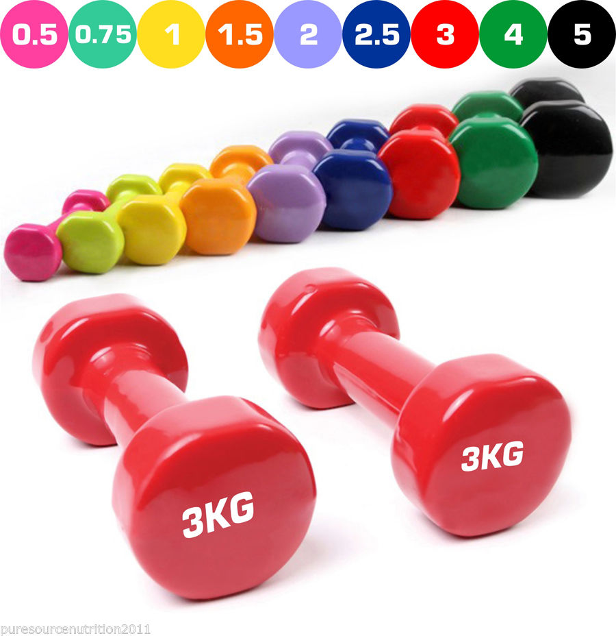 Free Weights Strength Training: Vinyl Dumbbell Hand Free Weights Strength Training Unisex