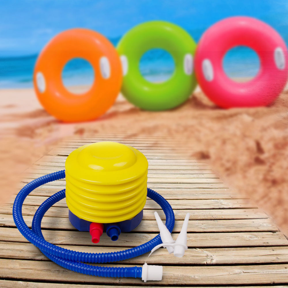 Foot Air Pump Inflator for Swimming Ring Balloon /& Yoga Ball Plastic Inflatable