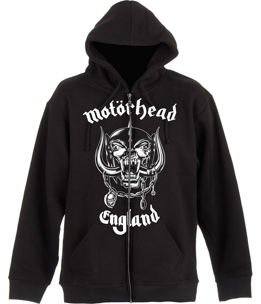 NEW /& OFFICIAL! Motorhead /'England/' Zip Up Hoodie