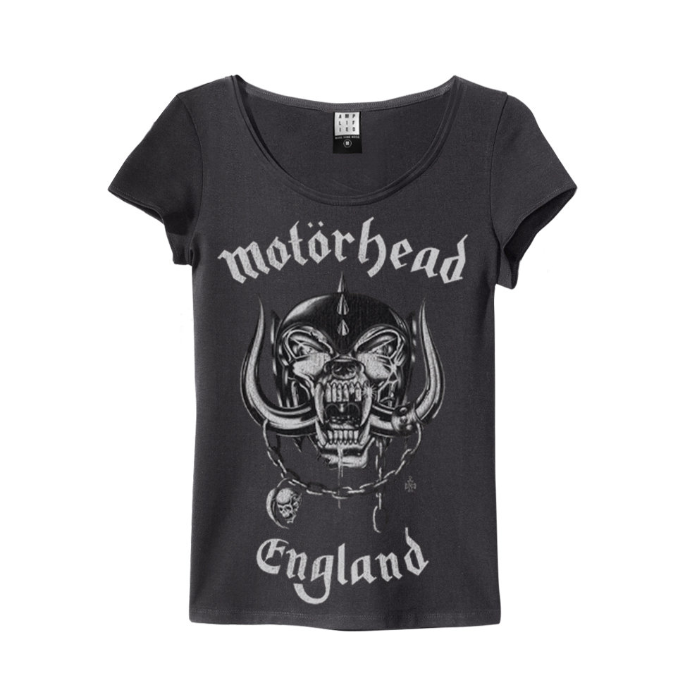 NEW /& OFFICIAL! Amplified Clothing Motorhead /'England/' Womens T-Shirt White