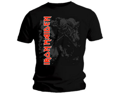 T-Shirt NEW /& OFFICIAL! Iron Maiden /'Trooper Vintage Circle/' Grey