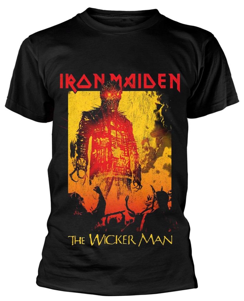 ec5df93b Details about Iron Maiden 'The Wicker Man Fire' T-Shirt - NEW & OFFICIAL!