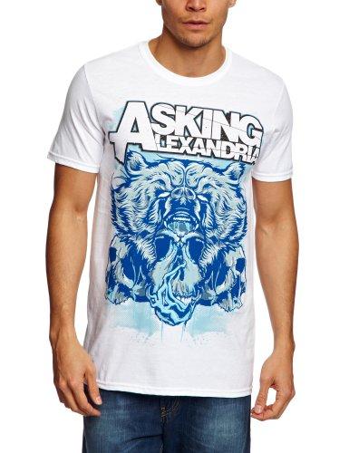 Asking-Alexandria-039-Bear-Skull-039-T-Shirt-NEW-amp-OFFICIAL