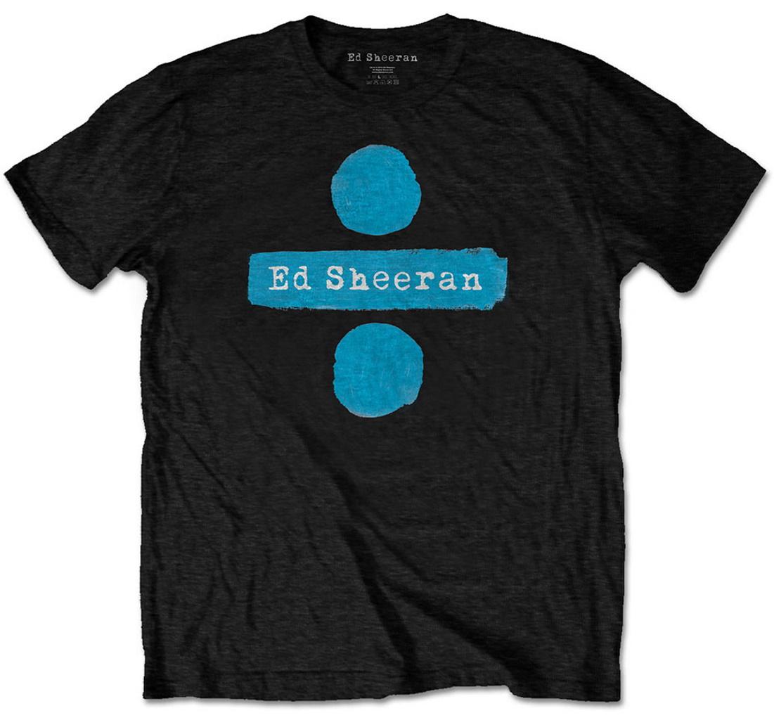 Ed Sheeran Divide Logo T-Shirt Dark Grey Ladies Large New