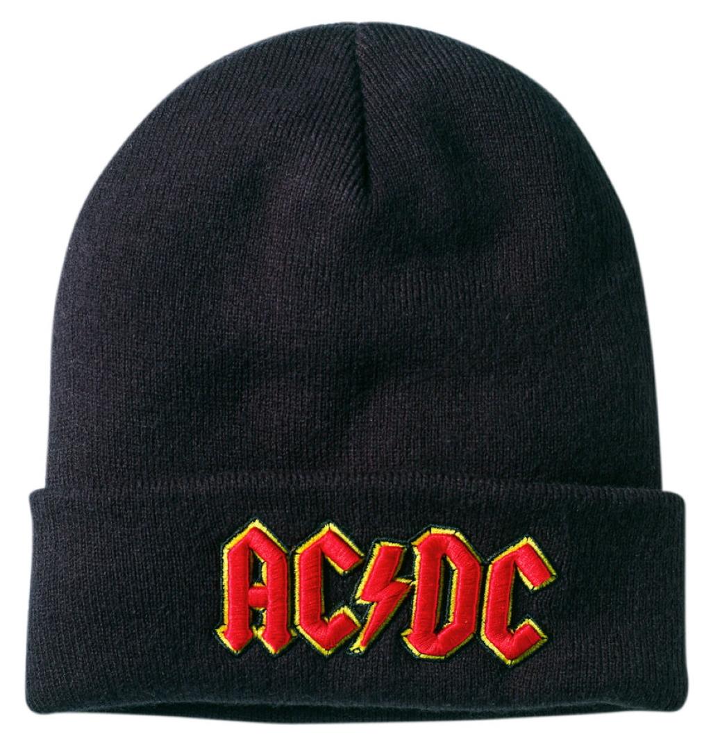 Black NEW /& OFFICIAL! Beanie Hat Amp AC//DC /'Logo/'