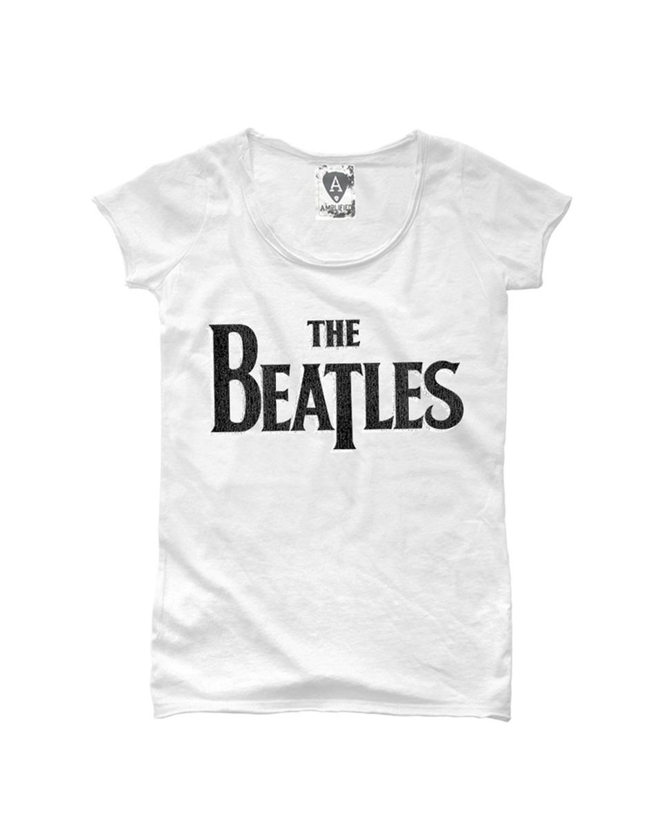 THE BEATLES white t shirt for Women/'s