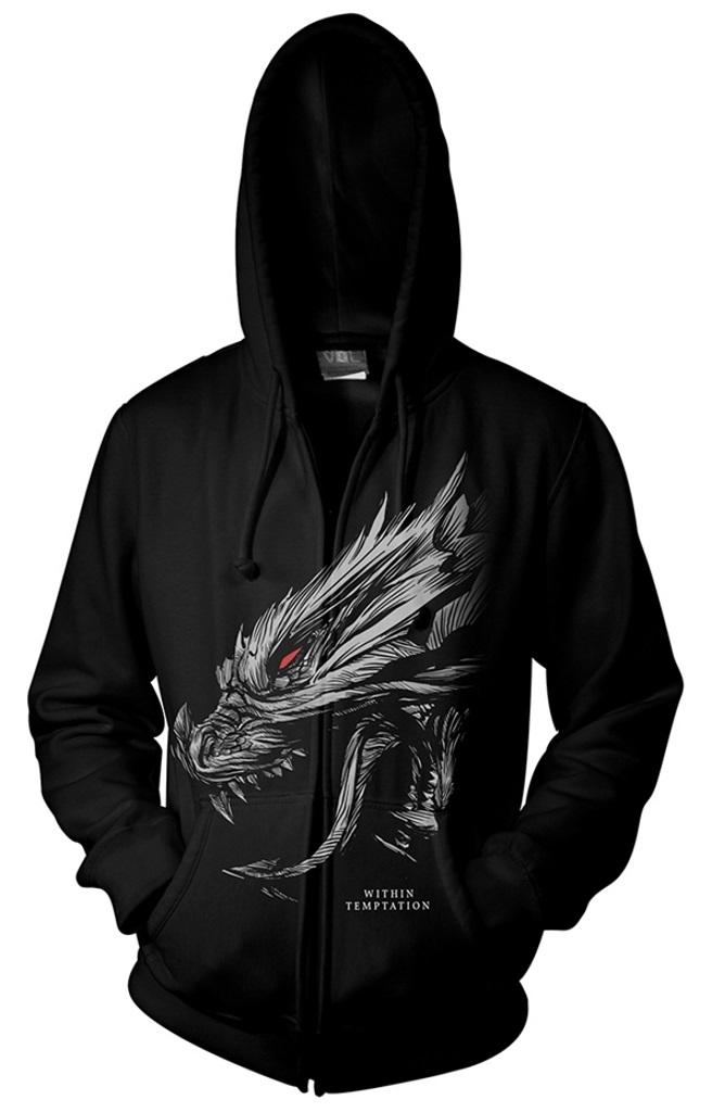 Within Temptation Sweat-Shirt /À Capuche Hydra Head Band Logo Nouveau Officiel
