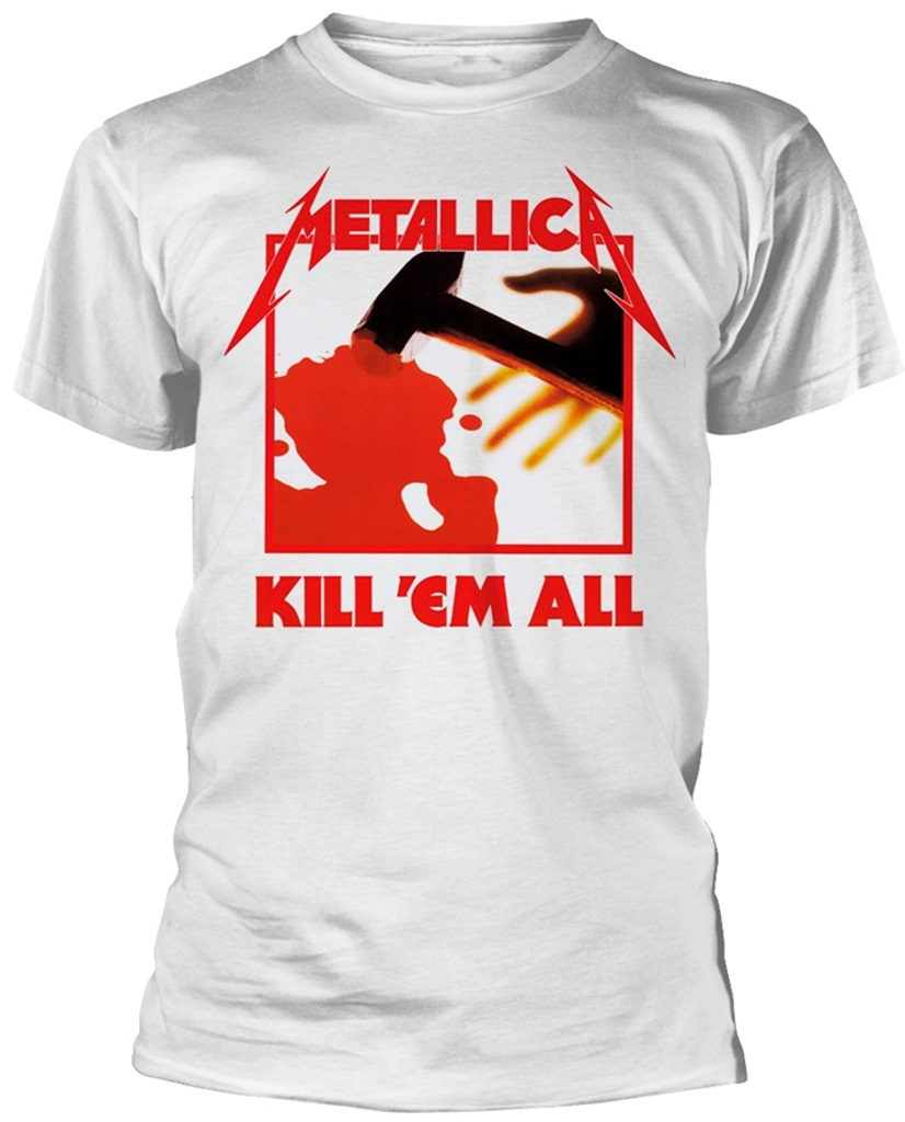 NEW /& OFFICIAL! T-Shirt White Metallica /'Kill Em All/'