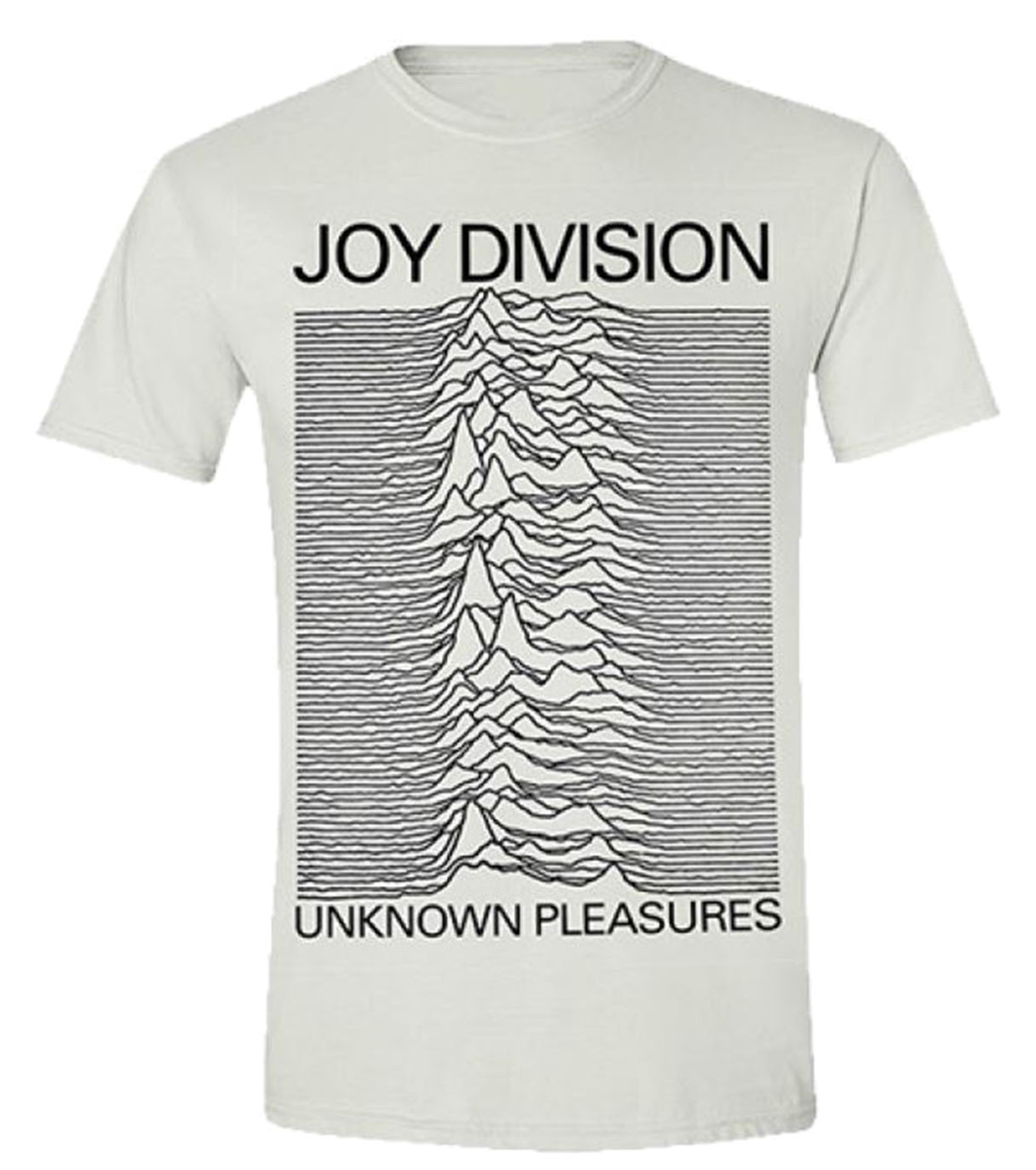 joy division 39 unknown pleasures white 39 t shirt new. Black Bedroom Furniture Sets. Home Design Ideas