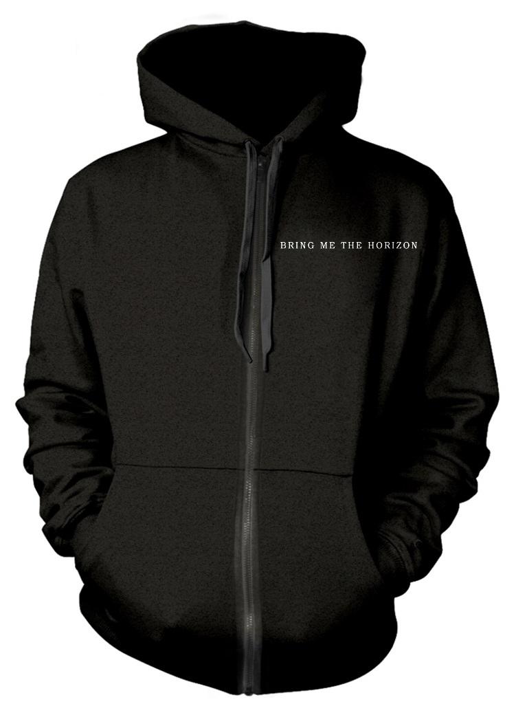 Bring Me The Horizon Sempiternal Men/'s Black BMTH Zipped Hoodie