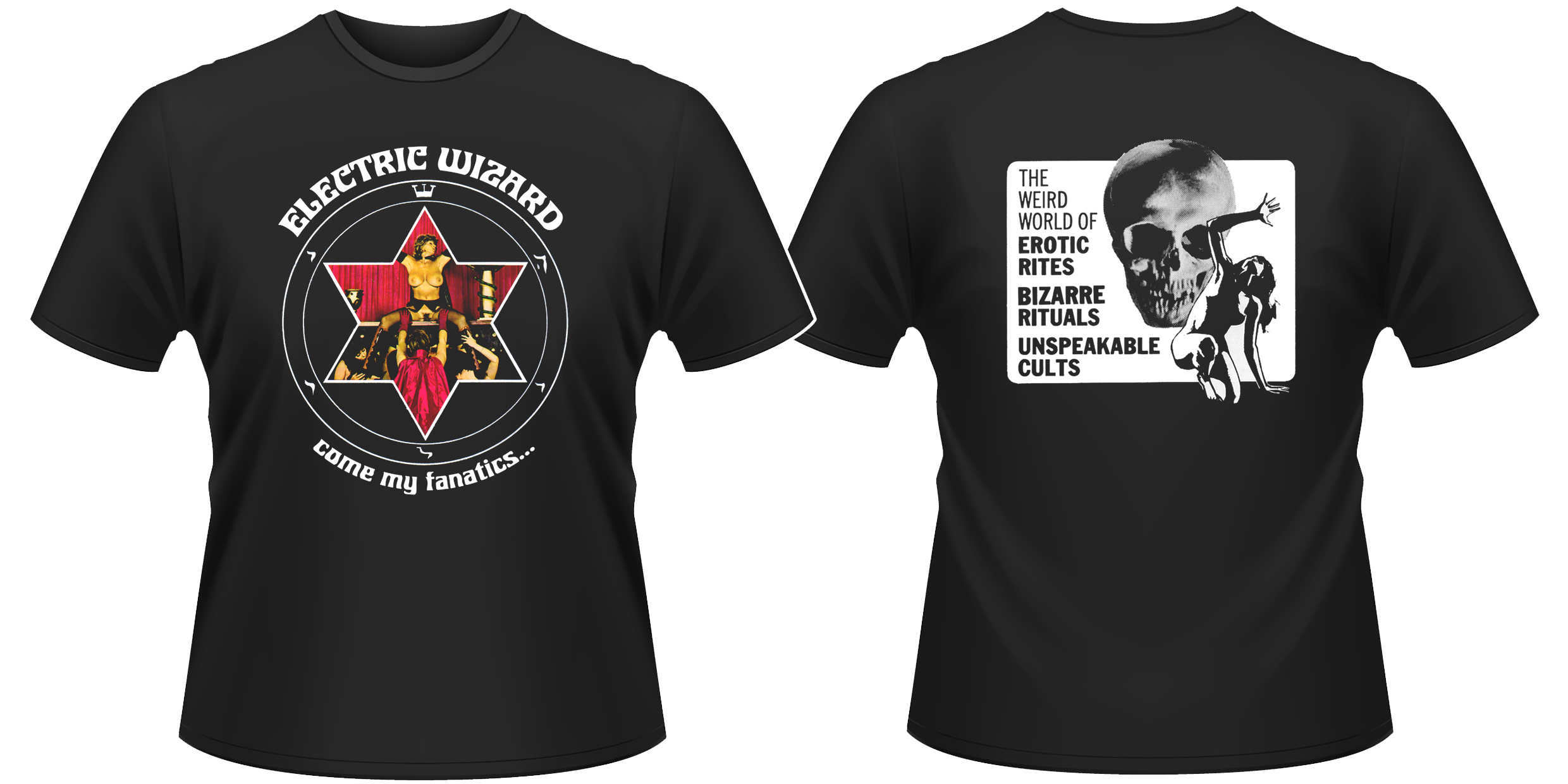 Details about Electric Wizard 'Come My Fanatics' T-Shirt - NEW & OFFICIAL