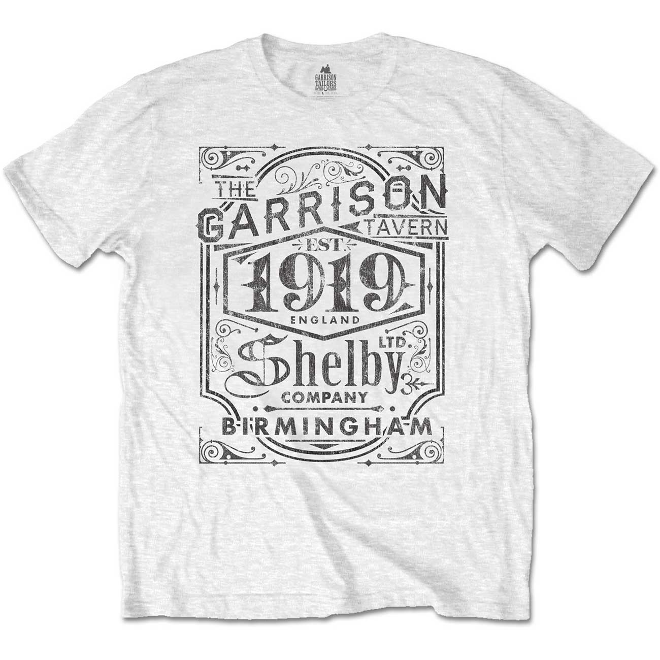 550cfb37 Peaky Blinders 'Garrison Pub' (White) T-Shirt - NEW & OFFICIAL! Product  Description. Officially Licensed Merchandise