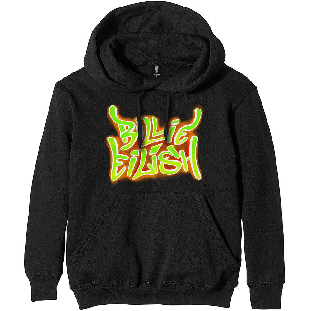 BILLIE EILISH PRINTED HOODIE GREAT PRESENT UNOFFICIAL HOODIE FRONT AND BACK LOGO