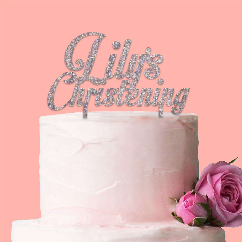 Personalised Christening Cake Topper Boy Girl Communion ...