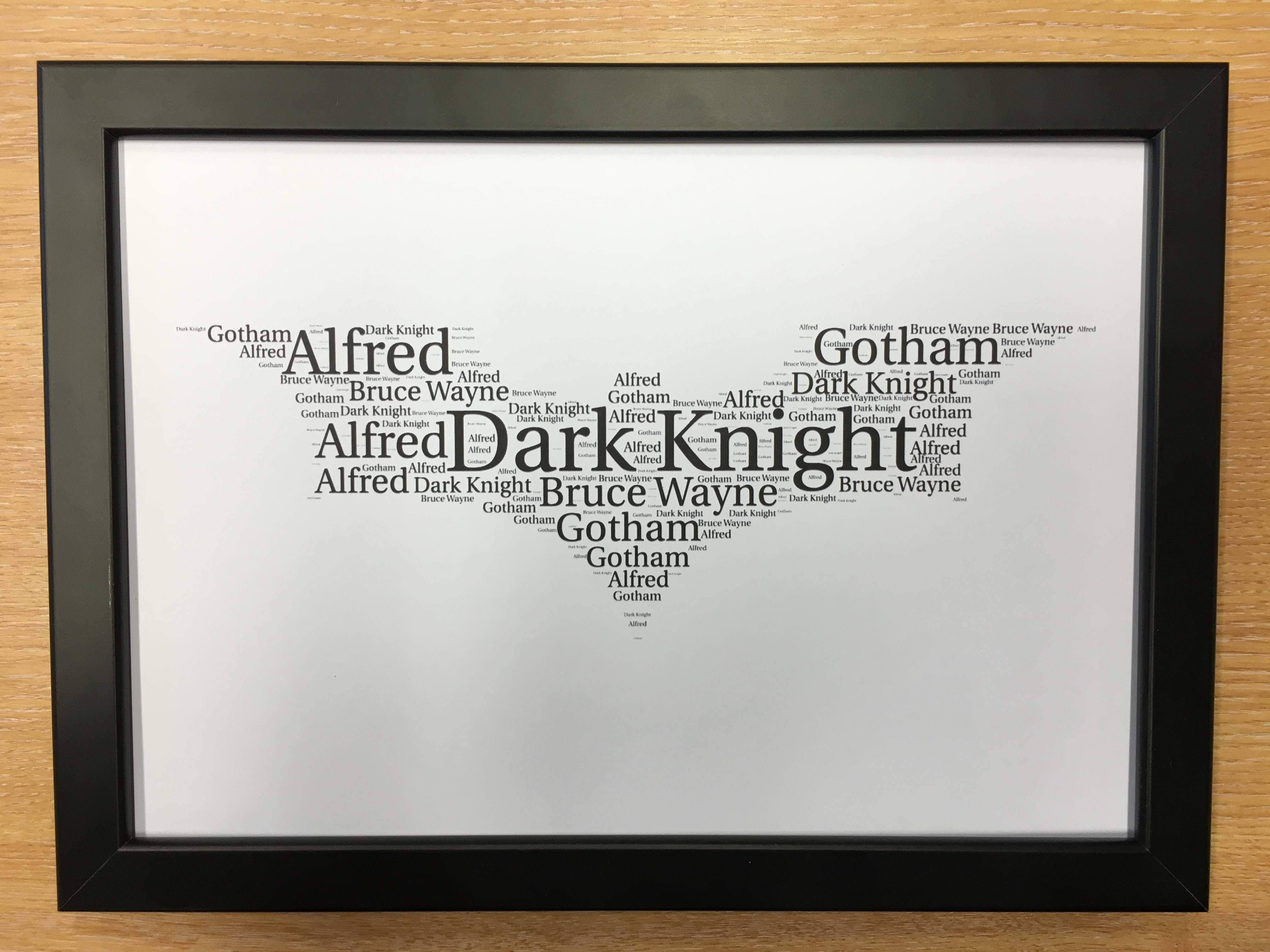Framed Word Art Clouds Breaking Bad Game Thrones One Direction Star ...