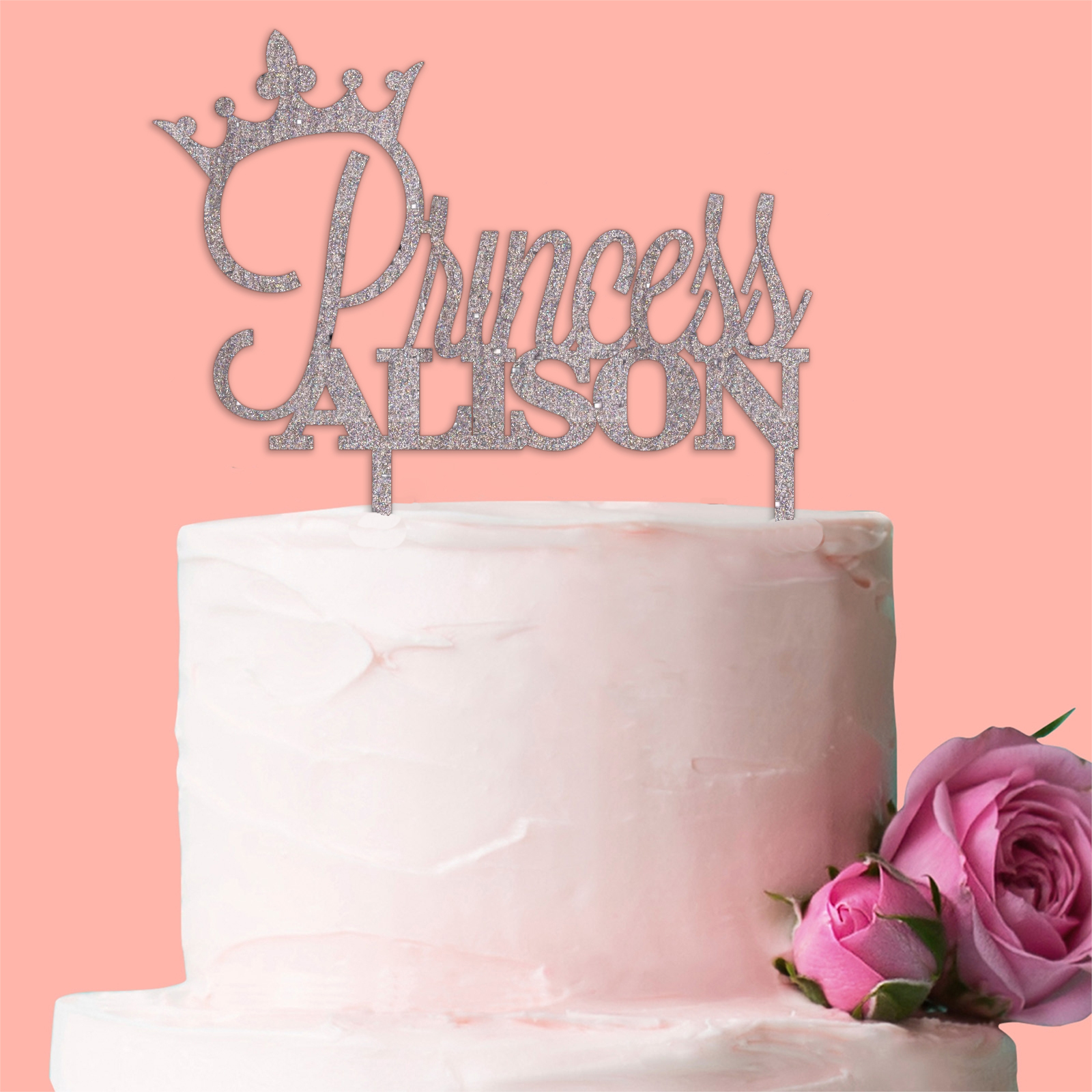 Personalised Princess Crown Cake Topper Birthday Party ...