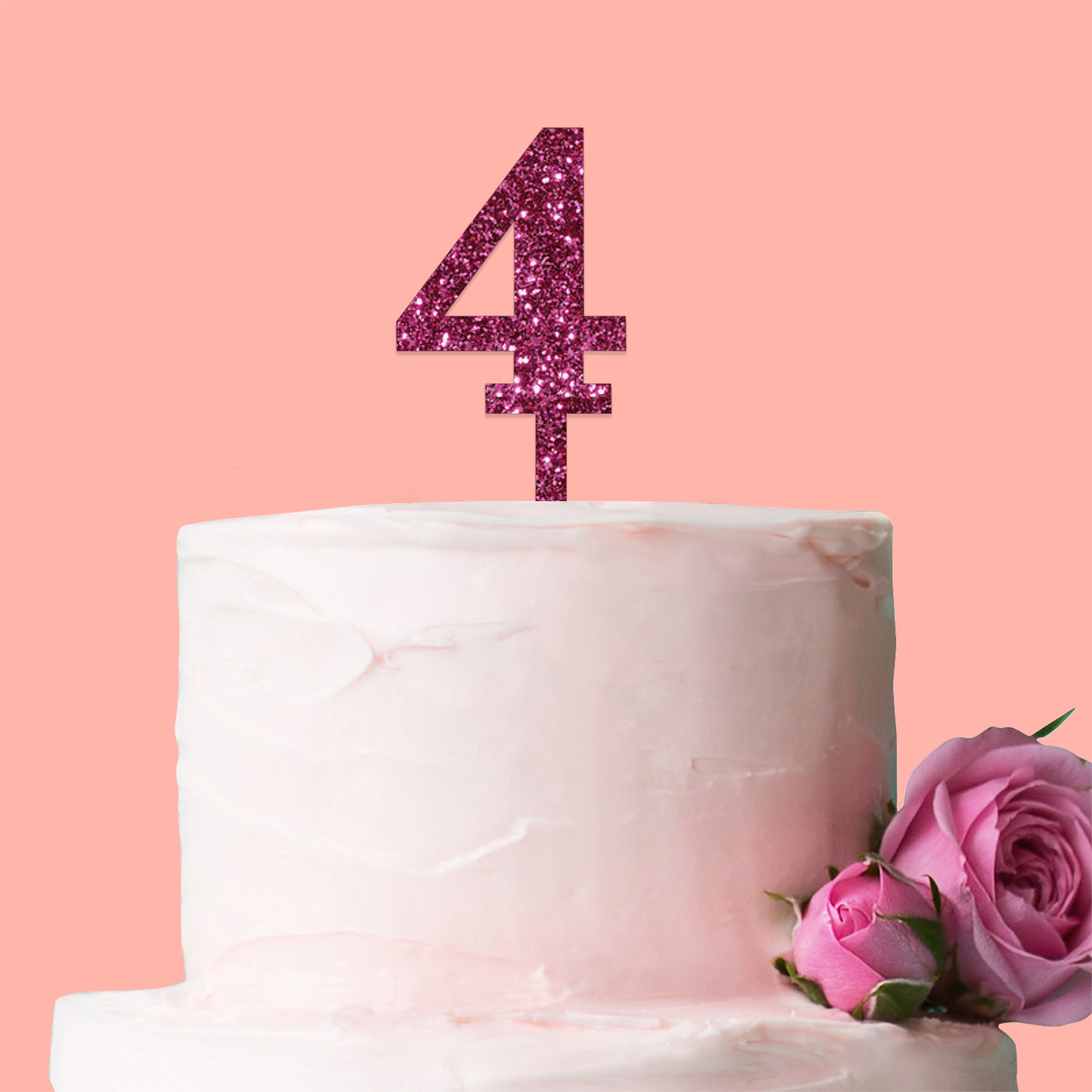 09 Number Cake Topper Glitter Pink Birthday Decoration Present Gift