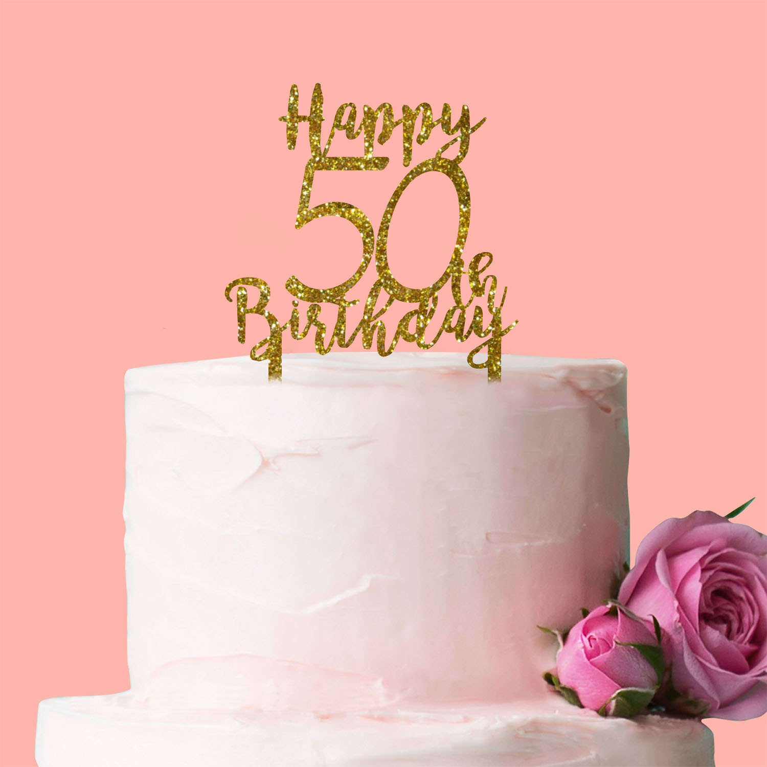 Personalised Any Age Happy Birthday Cake Topper Decoration Gift Cute