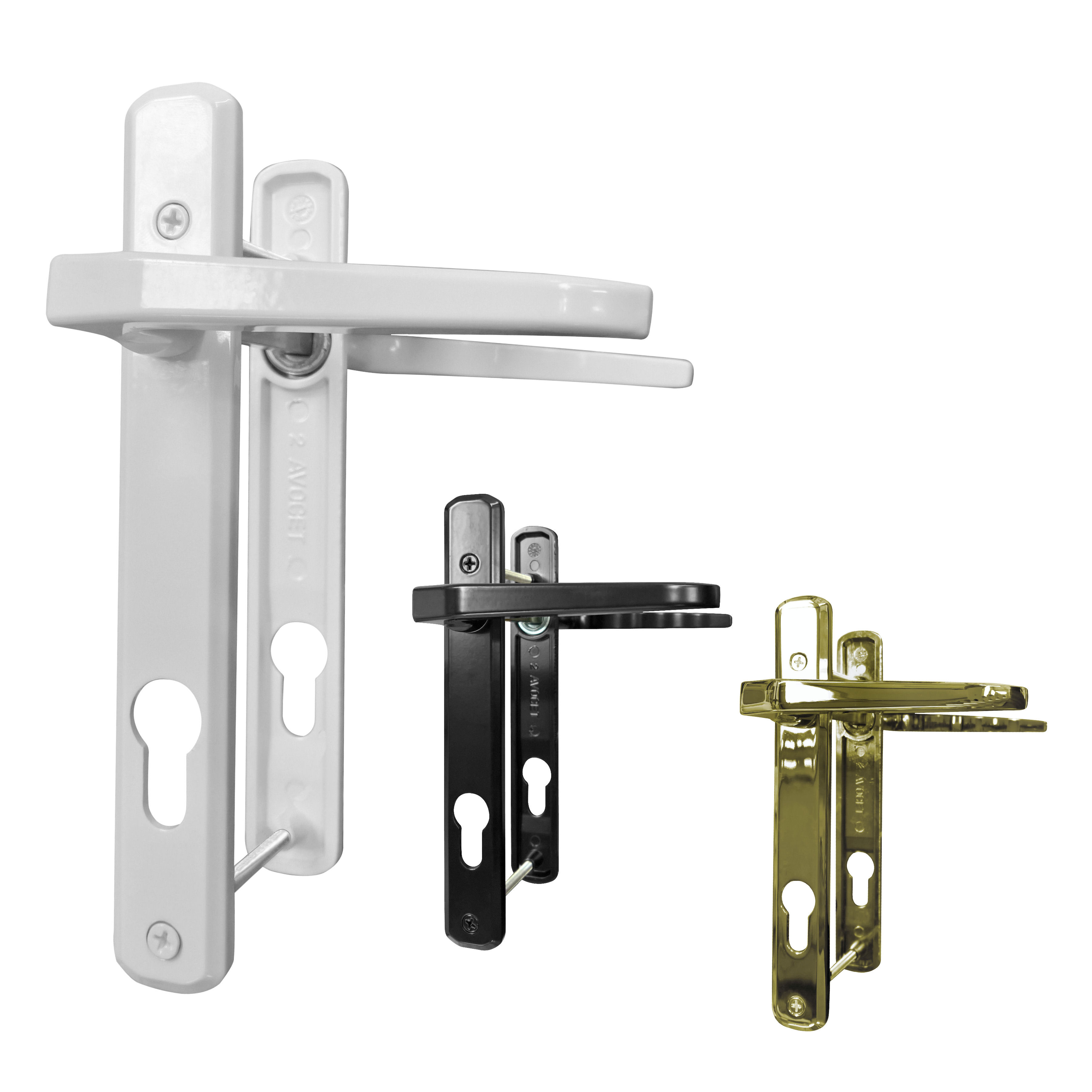 Avocet Roto 92pz Door Handle Set For Upvc Double Glazing
