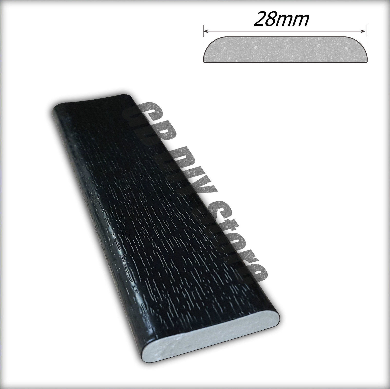 Upvc Window And Door Trim Plastic Architrave Black Pvc 5m